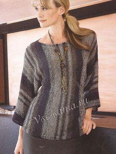 Пуловер - комбинация серого и чёрного, фото