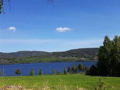 Utsikten över marken och Stödesjön
