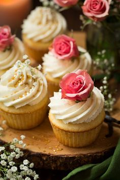 Vanilla Bean Cupcakes with Vanilla Bean Buttercream Frosting | Cooking Classy