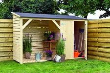 15 mm Holzunterstand 320 x 110 cm Schuppen Geräteschuppen Holz Holzhaus Neu