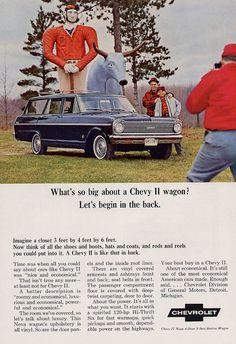 1965 Chevrolet Chevy II Wagon Ad- My Most Favorite Year Of Chevy II's!!