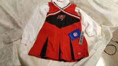 JUST RELISTED AND PRICE REDUCED ON HOMELESS TO INDEPENDENCE INC.'S EBAY CHARITY STORE!  THANK YOU FOR SUPPORTING HOMELESS TO INDEPENDENCE INC.!  NWT Tampa Bay Buccaneers NFL Reebok Girls Cheerleader 2Pc Dress~ Reebok~Size 5/6 #NFLReebok #TampaBayBuccaneers