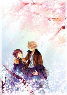 Hetalia Ameripan Cute...wait I-is Japan d-dying?... <<< AHHHHHHHHHHHH<<<<or is this after a war??