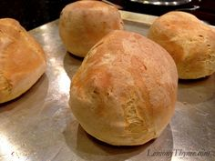 Bread Machine Bread Bowls.  Perfect for serving soups, stews, chilis & chowders.