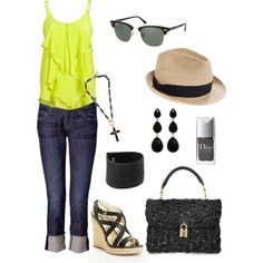 Neon & Black, created by patricia-teixeira on Polyvore