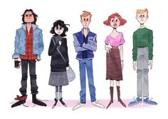 Jackie Droujko — been thinkin a lot about movies Character Design Teen, Character Design Challenge, Character Design Animation, Character Design References, Character Drawing, Character Design Inspiration, Character Illustration, Character Concept, Concept Art