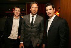 Zach Parise, Henrik Lundqvist and Sidney Crosby