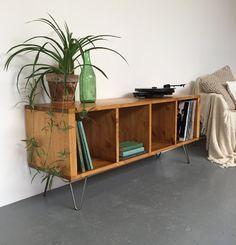 Sonor tocadiscos / LP / vinilo mueble consola mesa de mediados del siglo las patas de la horquilla