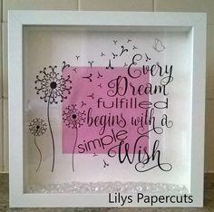Every dream frame by LilyPapercutandVinyl on Etsy