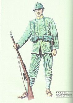 """Regio esercito - Fante del 11° Reggimento Fanteria, Brigata """"Casale"""", 1915-18"""