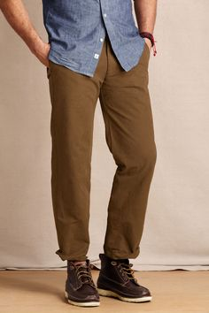 Men's Comer 628 Straight Fit Chino from Lands' End Canvas