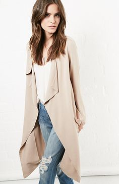 $74, Buttercup Long Sleeve Trench Coat. Sold by DailyLook. Click for more info: https://lookastic.com/women/shop_items/264297/redirect