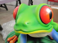 Themed Tree Frog In The Warehouse, Getting Ready To Hop Over To A Museum