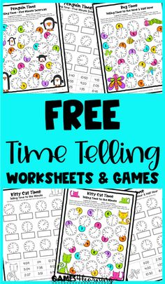 Grab these free telling time worksheets and games to help them with learning to tell the time. Perfect for the classroom or home learning! These are fun telling time activities that will help to reinforce this important skill. Telling Time Games, Telling Time Activities, End Of Year Activities, Hands On Activities, Third Grade Math Games, Second Grade, Time To The Hour, Teaching Style, Classroom Freebies