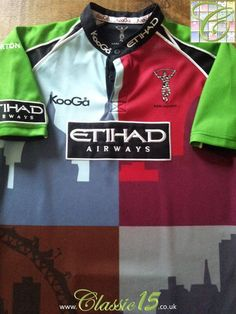 cdfd41e4fe1 Relive Harlequins' 2010/2011 season with this original Kooga home rugby  shirt. Rugby