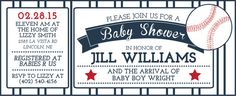 Baseball Baby Shower Invite Digital File by CWesterbuhr on Etsy