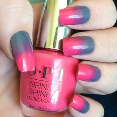 Make your gradient nails ultra shiny when you use these lacquers from the OPI Infinite Shine system. Get these essentials here.