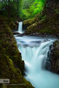 Half Spirit by gregityrx1  landscapes long exposure river washington waterfalls columbia gorge spirit falls Half Spirit gregity