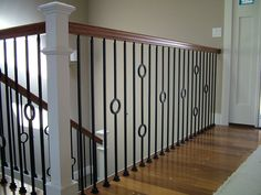 Craftsman Style Iron Balusters   kb · wood staircases with iron balusters