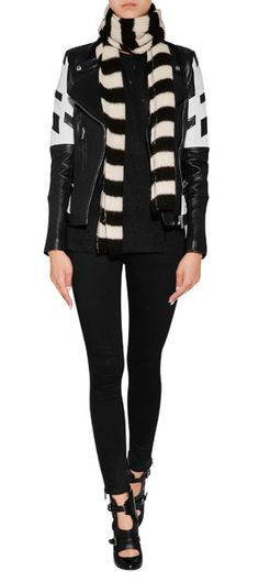 Side zip detailing lends a chic look to these jet black skinnies from Rag & Bone #Stylebop