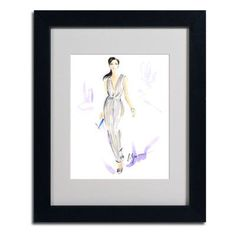 "Trademark Art ""Silver Wear"" by Jennifer Lilya Framed Painting Print Size:"