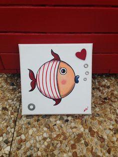 """Tableau """"Le petit poisson rouge"""""""