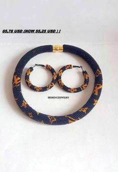 DESCUENTO Negro collar del ganchillo / Beaded por SERMINCEJEWELRY