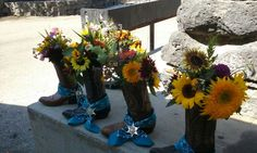 Cowboy boot centerpieces