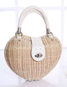 Unique Wicker and Rattan Chic Tote Bag for Women - Milanoo.com