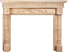 Delaware wooden fireplace mantels carved in maple wood Wooden Mantel, Wooden Fireplace, Fireplace Mantel Surrounds, Fireplace Ideas, Victorian Homes, Delaware, Great Rooms, Home Remodeling, Entryway Tables