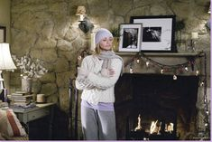 """Scene from the movie """"The Holiday"""". I love the cottage in this movie. So cozy & homey."""