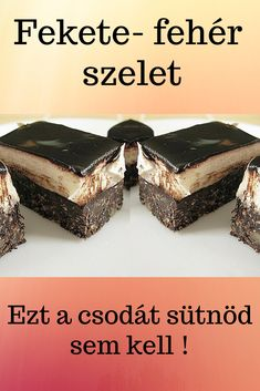 A Nanaimo szelet nem csak szép, de mennyei finom is. Hungarian Desserts, Hungarian Recipes, Smoked Salmon Bagel, Gluten Free Granola, Yogurt Breakfast, Juicy Fruit, Winter Food, No Bake Cake, Cake Cookies