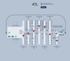 atlanta airport map if you transfer flights in atlanta you can use the underground