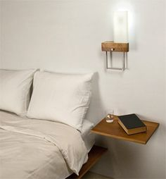 bedside lamp perfect for my japanese bedroom;) hopefully i could find something like this at homedepot!