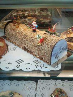 Central European christmas log - cake.