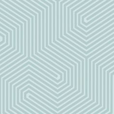 Papier peint Bleu Labyrinth de Cole and son