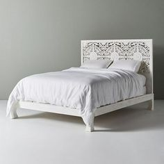 indian bed doll Dynasty low line hand carved Indian wooden bed frame White Wooden Partitions, Wooden Wall Panels, Wooden Bed Frames, Wood Beds, Carved Beds, Hand Carved, Bedroom Furniture, Bedroom Decor, Diy Furniture