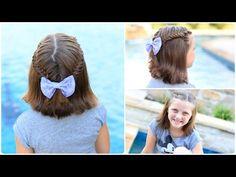 Cute short hairstyle!  #cutegirlshairstyles #hairstyles #fishtailbraid #fishtail #short hair