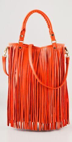 "B-Low the Belt ""Twiggy"" leather fringe handbag."