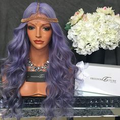 Morning Slay ❄️ Custom Designer Lilac Wig for my Bella in Dubai Best Human Hair Wigs, Best Wigs, Cute Weave Hairstyles, Wig Hairstyles, Beautiful Hairstyles, Hot Hair Styles, Wig Styles, Human Lace Front Wigs, Colored Wigs