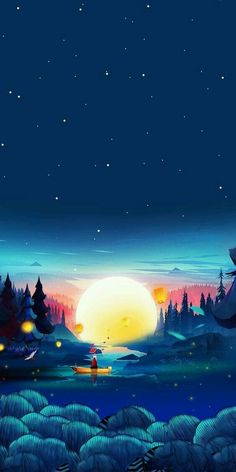 Nice view - Wallpaper World View Wallpaper, Anime Scenery Wallpaper, Landscape Wallpaper, Cute Wallpaper Backgrounds, Galaxy Wallpaper, Cute Wallpapers, Black Wallpaper, Iphone Wallpapers, Best Wallpaper Hd