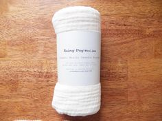 Organic Baby Swaddle Blanket - Natural Unbleached Organic Cotton Gauze - Muslin Swaddle Blanket - Eco Friendly Baby Shower Gift