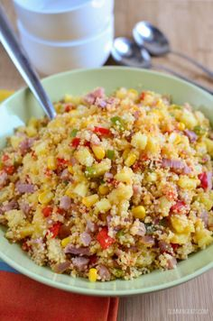 Slimming Slimming Eats Hawaiian Style Couscous - dairy free, Slimming World and Weight Watchers friendly - Slimming World Lunch Ideas, Slimming World Recipes Syn Free, Slimming World Cous Cous, Diet Recipes, Cooking Recipes, Healthy Recipes, Healthy Meals, Healthy Sides, Healthy Breakfasts