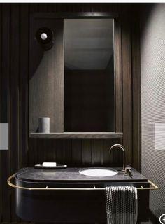 Cloakroom - Towel rail around vanity