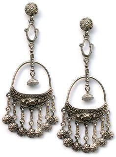 Superstar earrings by Steve Sasco Designs in antique silver