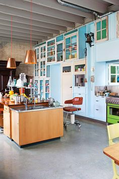 Happy Colorful Loft With Vintage Flair