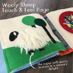 Wooly Sheep Quiet Book Page
