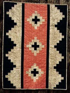 Pinesprings runner or part of larger quilt? Quilt Baby, Boy Quilts, Star Quilts, Quilt Blocks, Boys Quilt Patterns, Modern Quilt Patterns, Southwestern Quilts, Southwest Pottery, Southwestern Style
