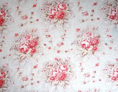 vintage french floral fabric