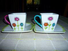peinture sur tasse porcelaine - Créachris